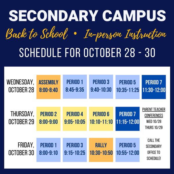 All School Minimum Day • Parent-Teacher Conferences