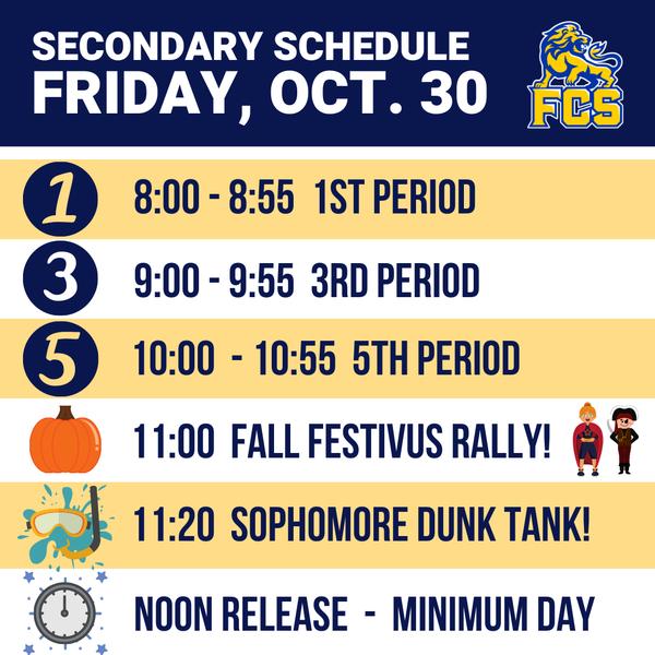 All School Minimum Day • (Elem Parent-Teacher Conferences)